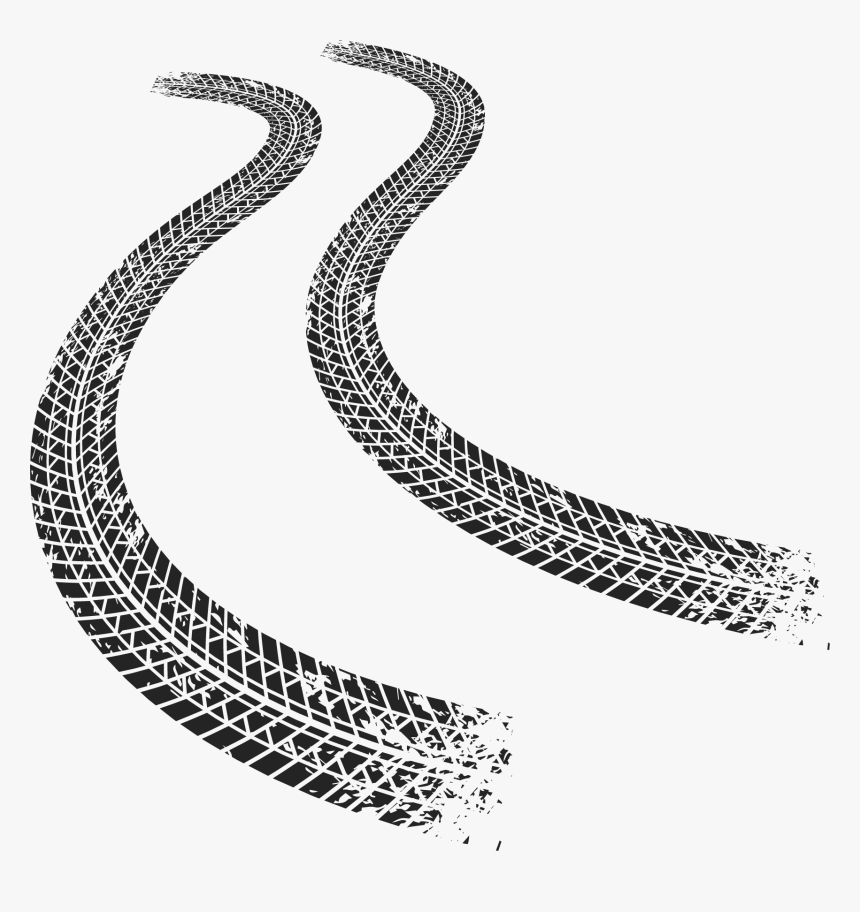 Driving Tire Track Car Euclidean Vector Motorcycle - Transparent Tire Tracks Png, Png Download, Free Download