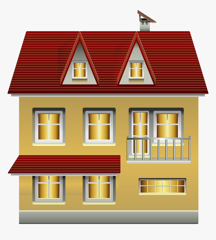 Yellow House Png Clip Art - House, Transparent Png, Free Download