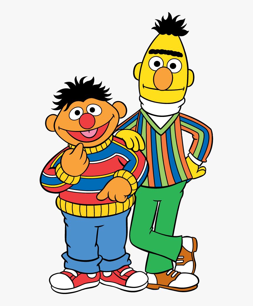 Sesame Street Clip Art - Sesame Street Bert And Ernie Cartoon, HD Png Download, Free Download