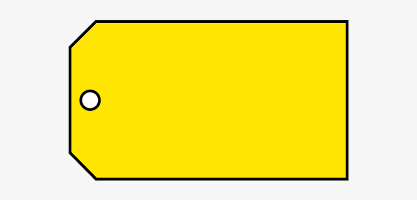 Brady Material Control Tag Blank Yellow - Sign, HD Png Download, Free Download