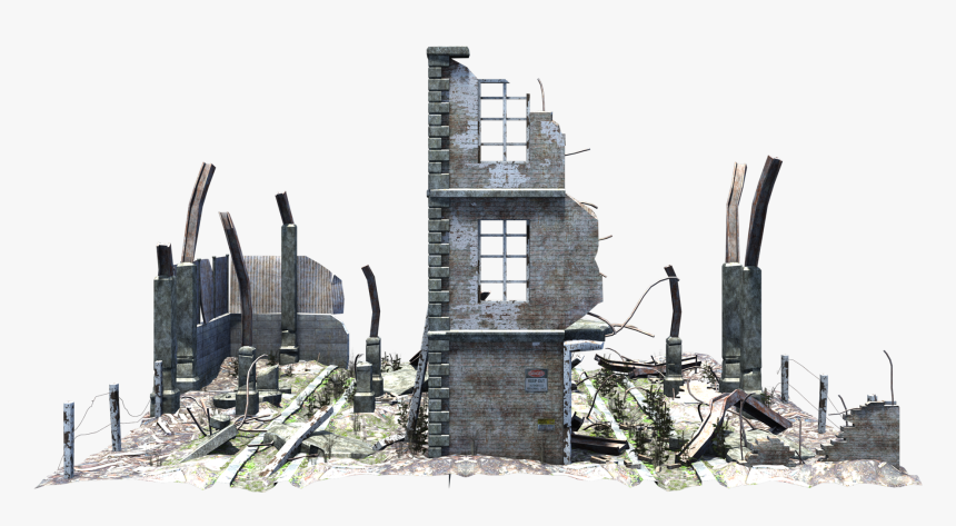 Ruined Building Png - Destroyed Building Png, Transparent Png, Free Download
