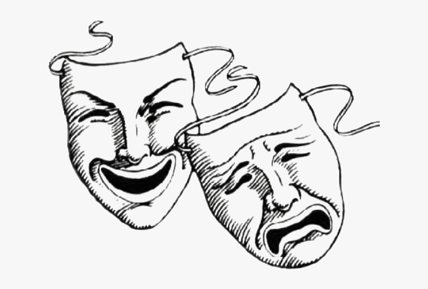 Laugh Now Cry Later Masks Tattoo Clipart , Png Download - Good Times Bad Times Face, Transparent Png, Free Download