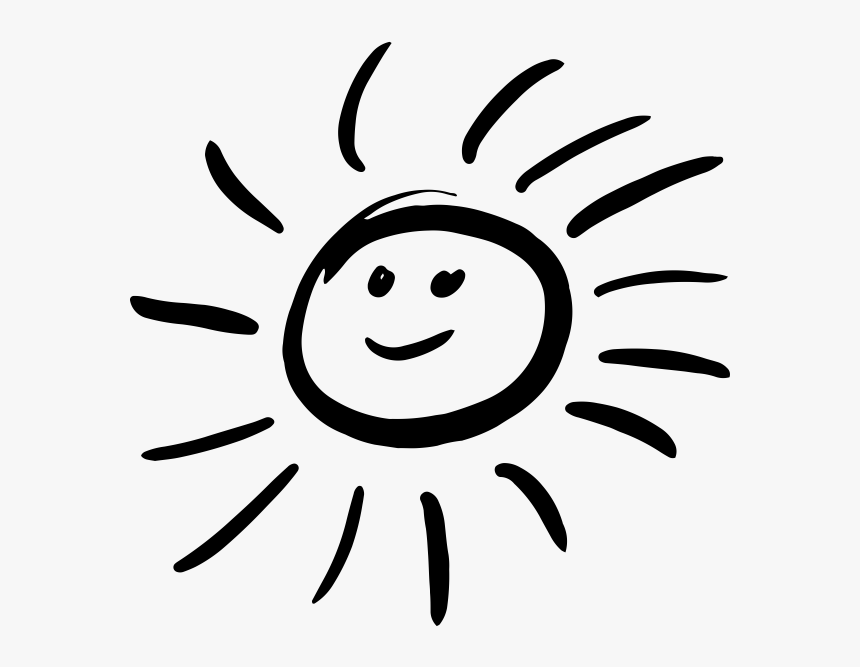 Smiling Sun Black And White Png Smiling Sun Clipart Black And