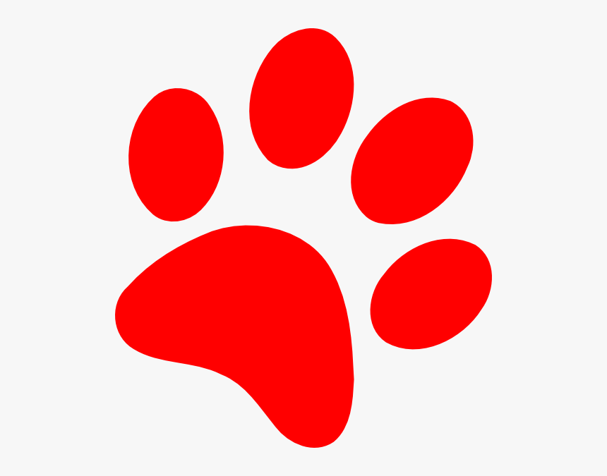 Dog Paw Heart Clip - Red Paw Print Clipart, HD Png ... (860 x 675 Pixel)