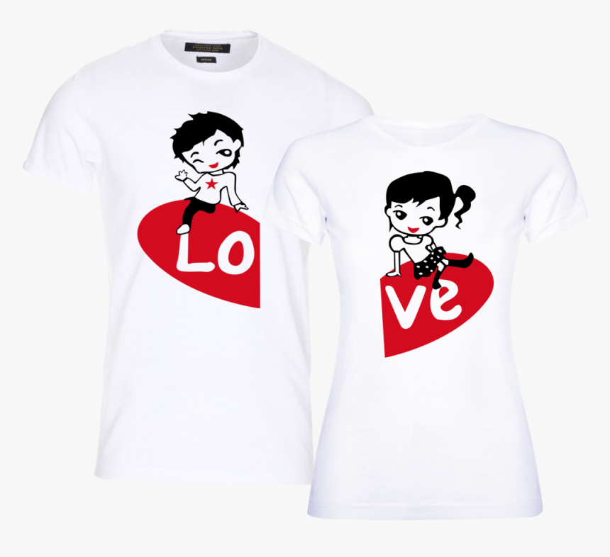 Transparent Matching Clothes Clipart - T Shirt Love Design, HD Png Download, Free Download