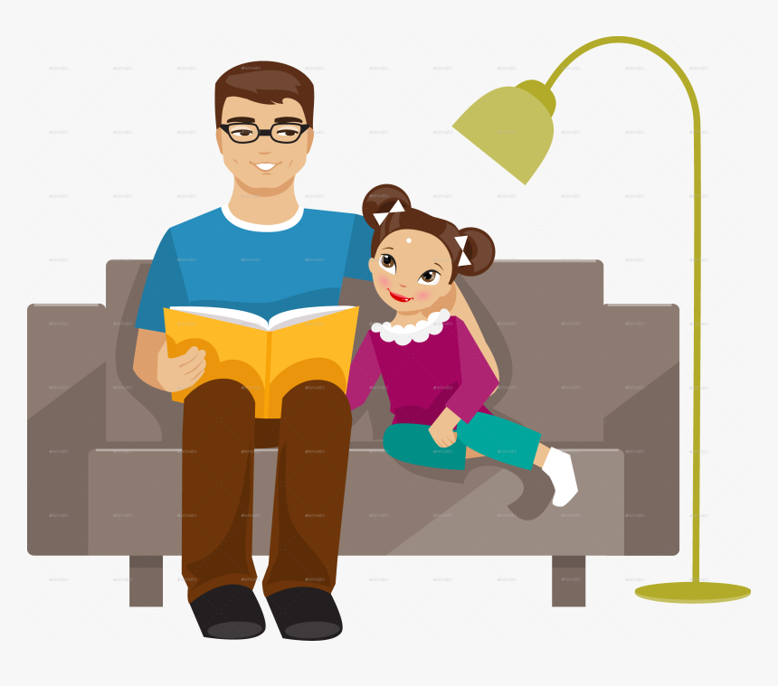 Animated Daughter And Father, HD Png Download, Free Download