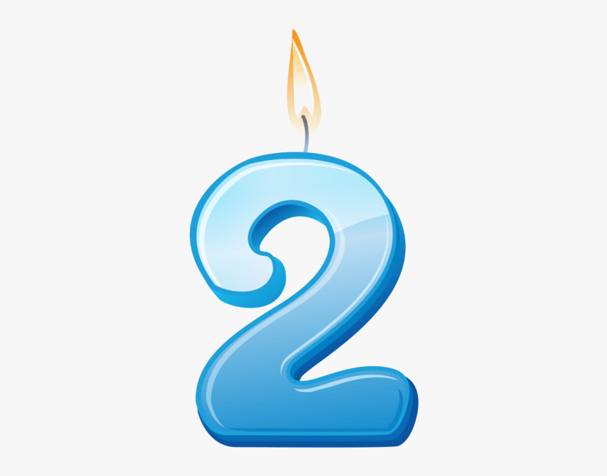 Birthday Candle Number 2 Png Image Free Download Searchpng - Birthday Candle 2 Png, Transparent Png, Free Download