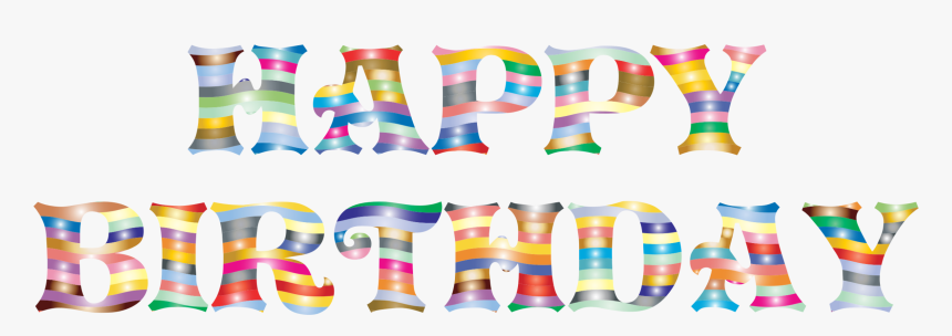 Party Supply,line,birthday - Happy Birthday Font Pdf, HD Png Download, Free Download