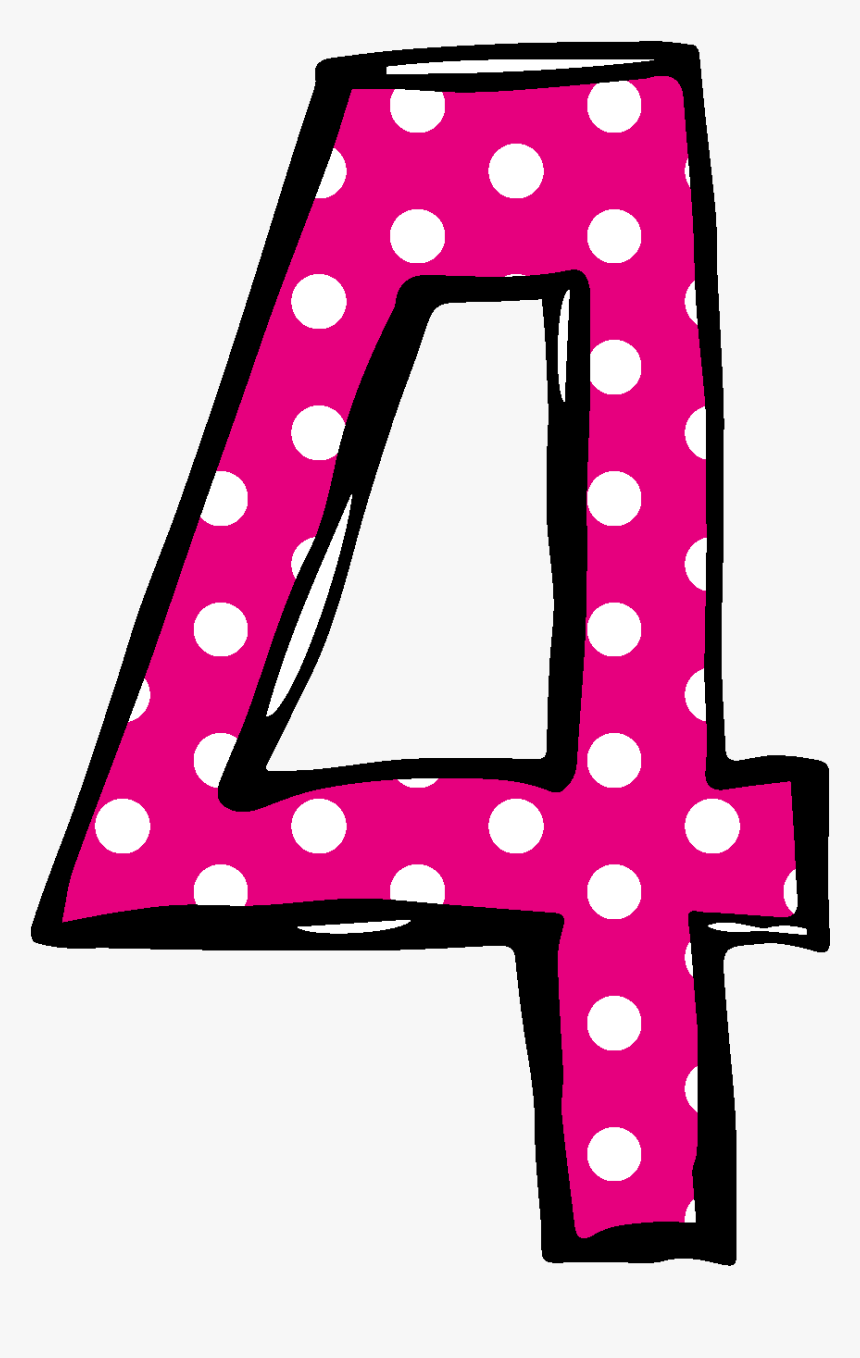 Polka Dot Number 2 Birthday Clipart - Number 4 Polka Dot, HD Png Download, Free Download