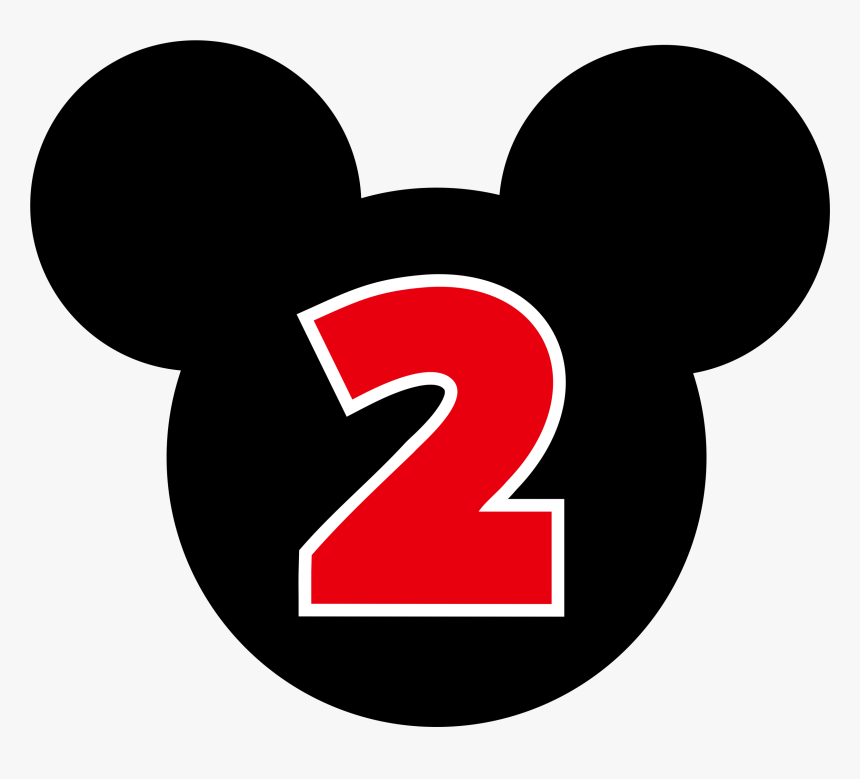 Number 2 Clipart 2nd Birthday Boy - Number 2 Mickey Mouse, HD Png Download, Free Download