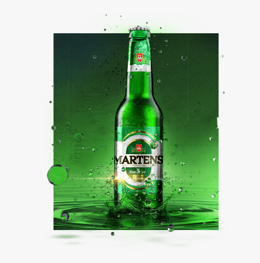 Martens Is A Premium Beer, Internationally Recognized - Beer Bottle, HD Png Download, Free Download
