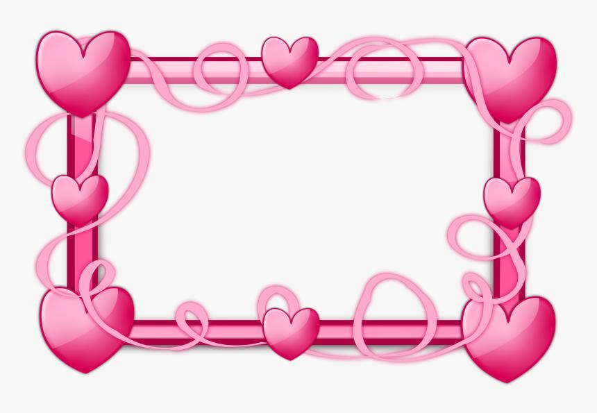 Transparent Free Border Clipart - Heart Pink Border Design, HD Png Download, Free Download