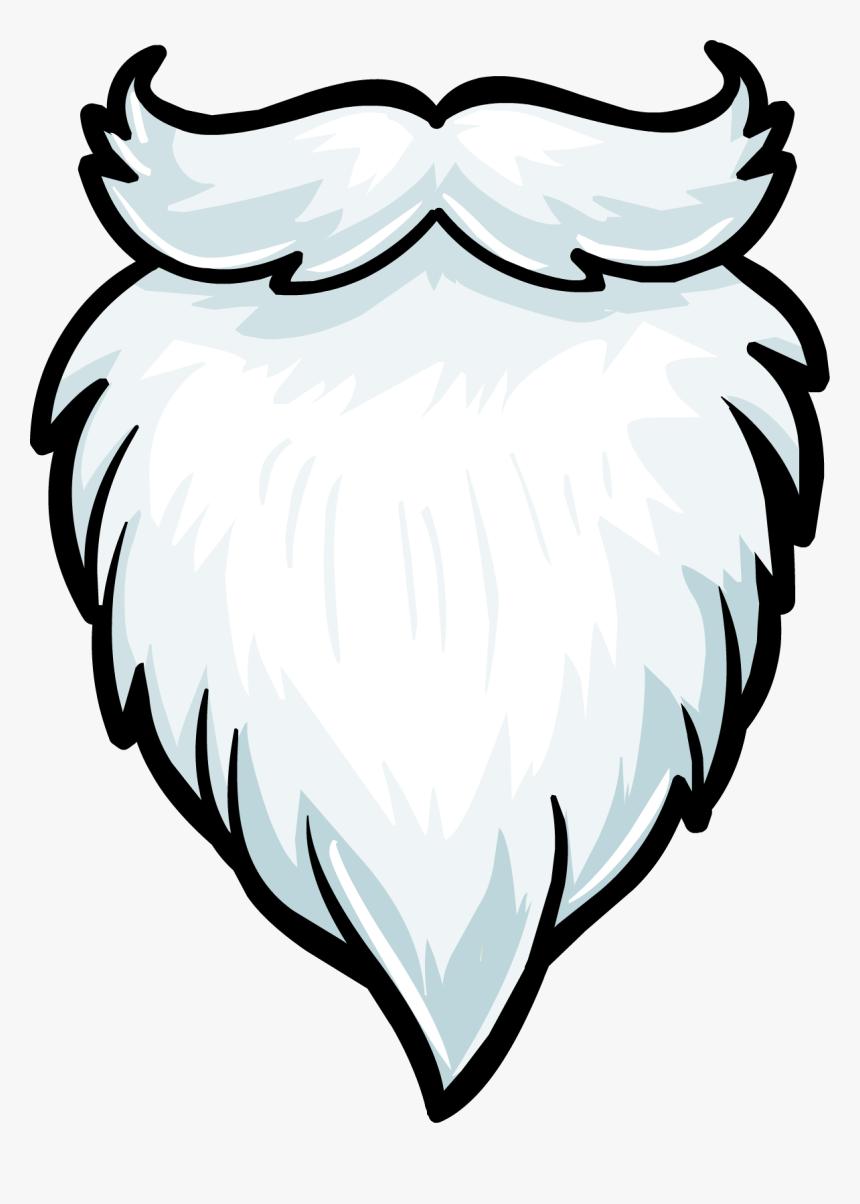 Clip Art Santa Claus Beard - White Beard Clip Art, HD Png Download, Free Download