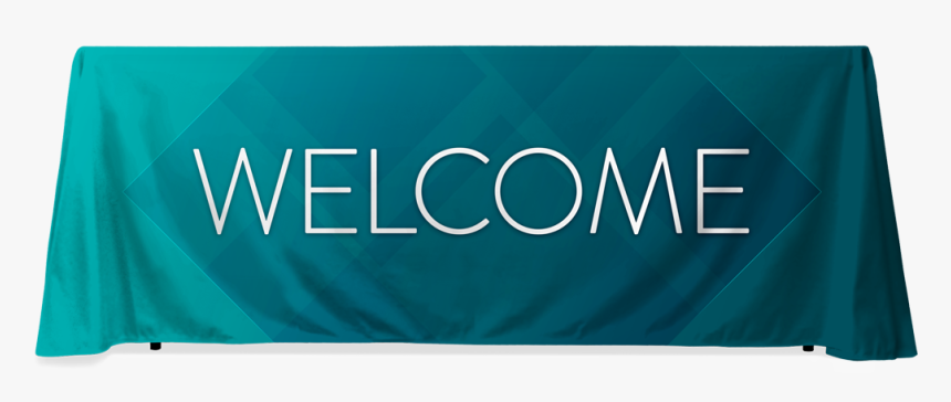Teal Diamond Welcome - Welcome Table Banner, HD Png Download, Free Download