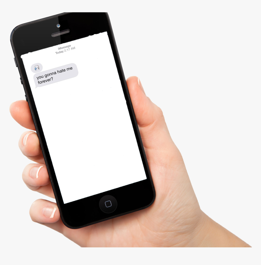 Telephone Transparent Hand - Hand Holding Phone Screen, HD Png Download, Free Download
