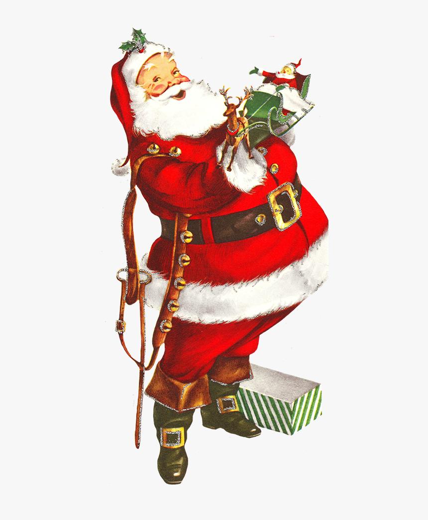 Old Clip Art Of Santa Claus Vintage Christmas Clipart Png Transparent Png Kindpng