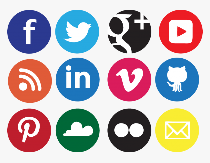 Social Media Social Network Icon Design Icon - Social Media Logos Transparent, HD Png Download, Free Download