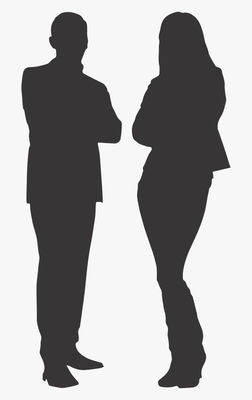 "Silhouette Man Women""s Free Picture - Man And Woman Silhouette Png, Transparent Png, Free Download"