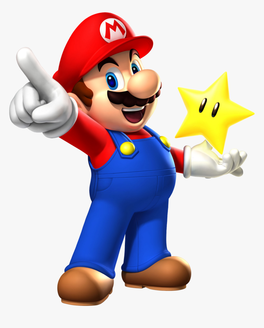 Mario With Star - Super Mario Png, Transparent Png, Free Download