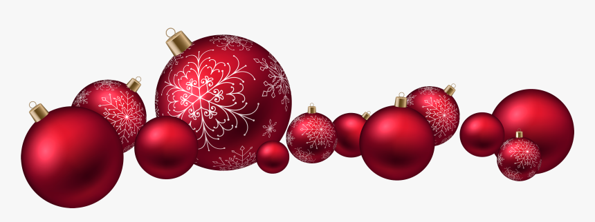 Red Christmas Ball Png - Red Christmas Balls Png, Transparent Png, Free Download