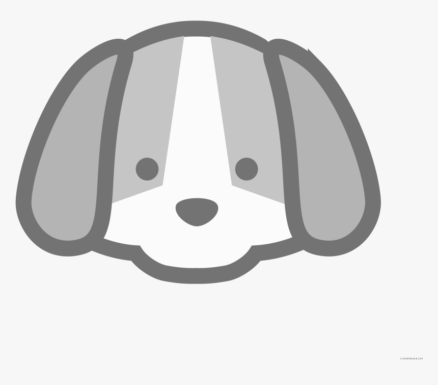 Dog Animal Free Black White Clipart Images Clipartblack Cute Dog Face Cartoon Hd Png Download Kindpng