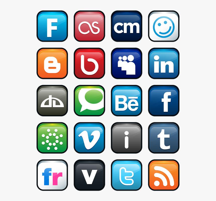 Transparent Social Media Logos Png - Transparent Social Network Logos, Png Download, Free Download