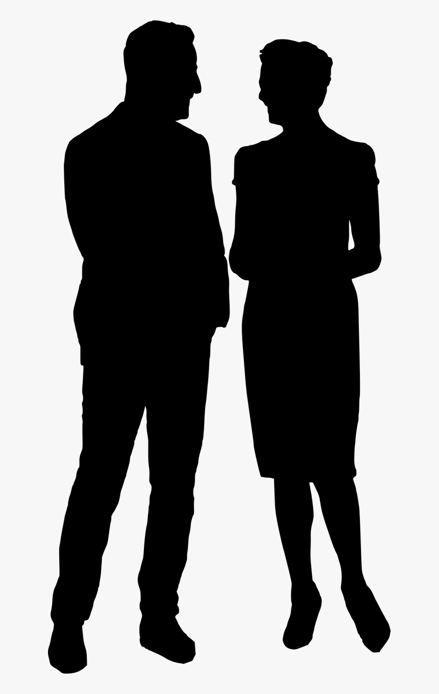 People Talking Silhouette Png, Transparent Png, Free Download