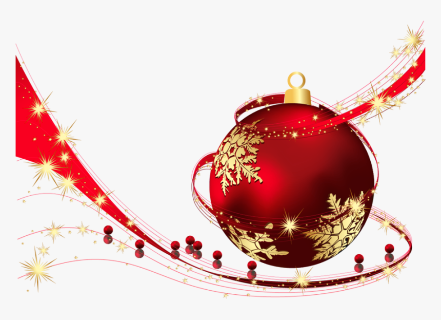 Red Transparent Christmas Ball Png Clipart Png Download - Transparent Christmas Balls Png, Png Download, Free Download
