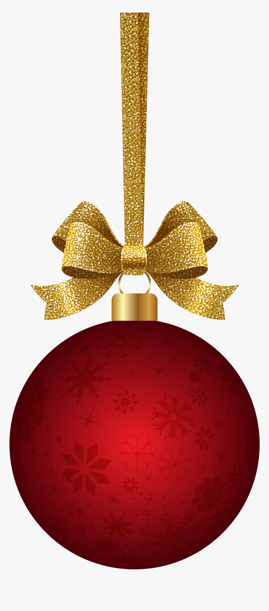 Clipart Ball Red Red Christmas Hanging Ornament - Hanging Red Christmas Ornaments, HD Png Download, Free Download