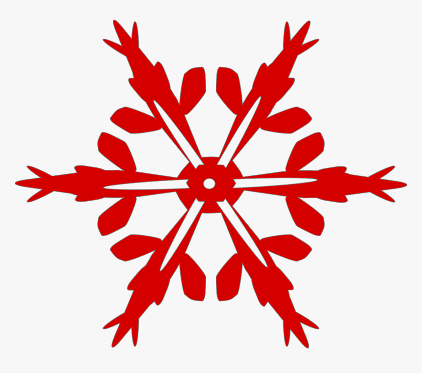 Snow, Flake, Red, Winter - Holiday Bazaar, HD Png Download, Free Download