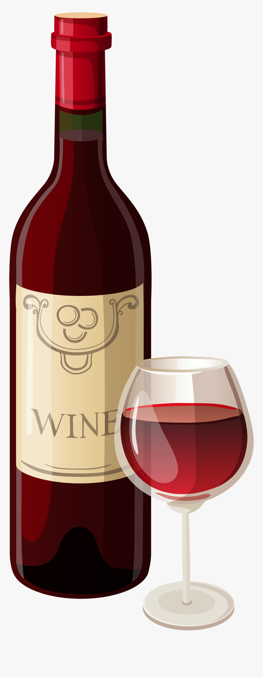 Wine Bottle And Glass Clipart, HD Png Download, Free Download