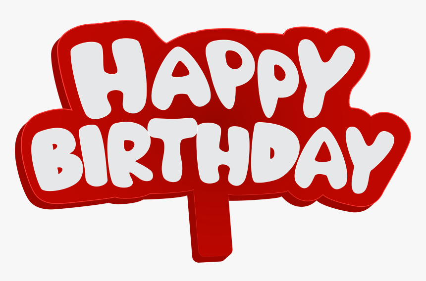 Happy Birthday Download Png - Happy Birthday بلون احمر, Transparent Png, Free Download