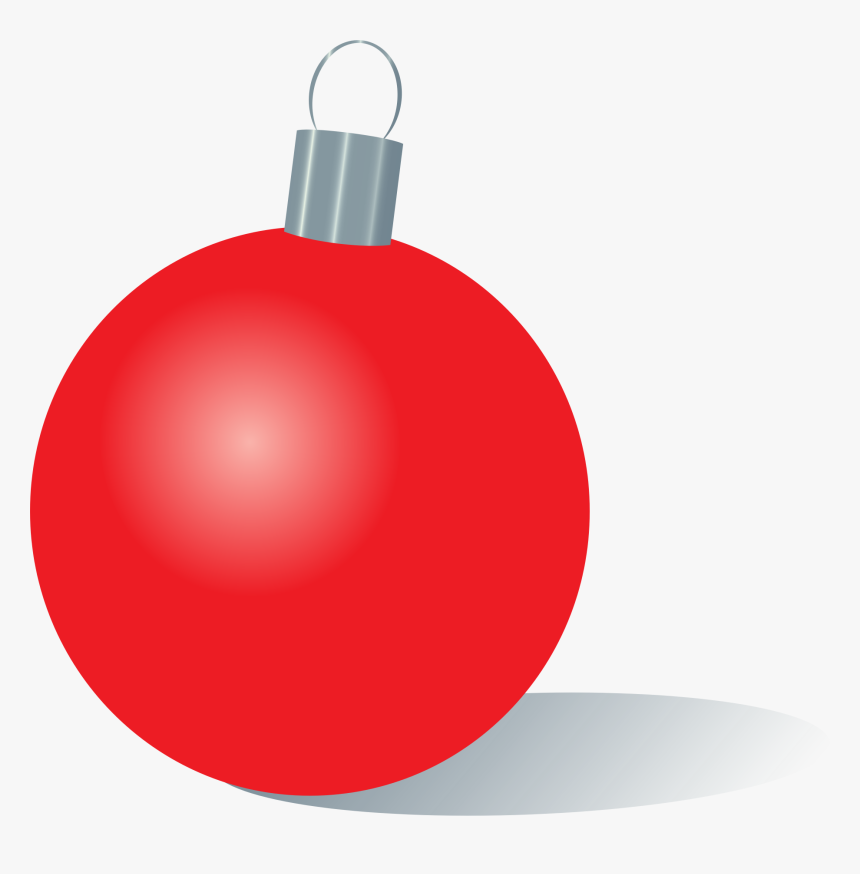 Red Christmas Ornament - Green Christmas Ornament Clipart, HD Png Download, Free Download