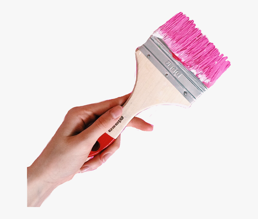Hand Holding Paint Brush Painting Free Ⓒ - Picsart Painting Brush Png, Transparent Png, Free Download