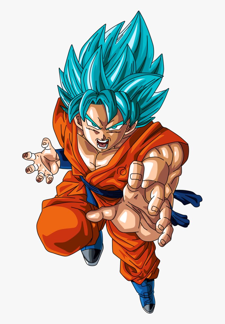 Goku En Super Saiyan Blue O Super Saiyan Dios Super - Dragon Ball Goku Ssj Dios Blue, HD Png Download, Free Download