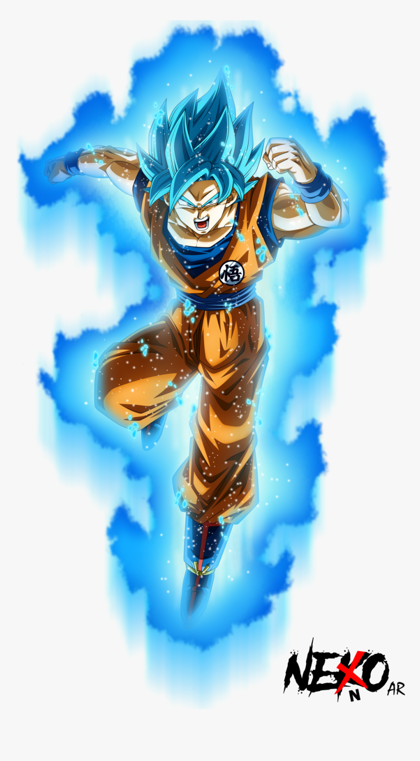 Super Saiyan Blue Goku By Nekoar - Dragon Ball Super Goku Super Sayajin Blue, HD Png Download, Free Download