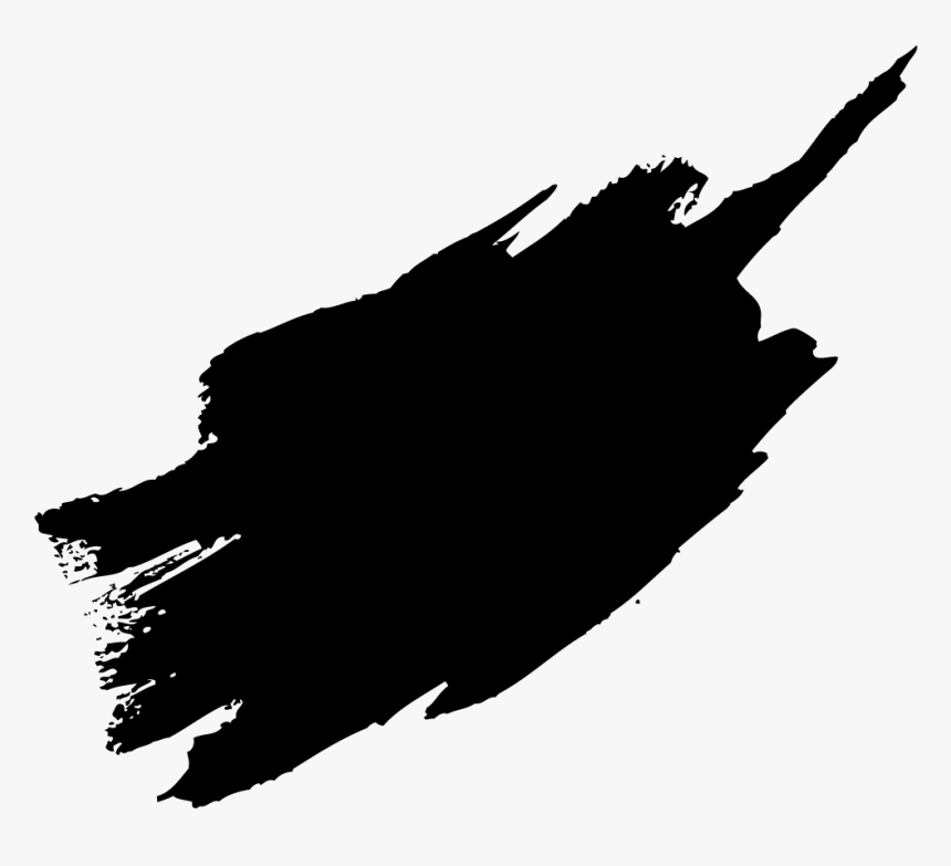 Paint Brush Stroke Vector - Paint Brush Stroke Black, HD Png Download, Free Download