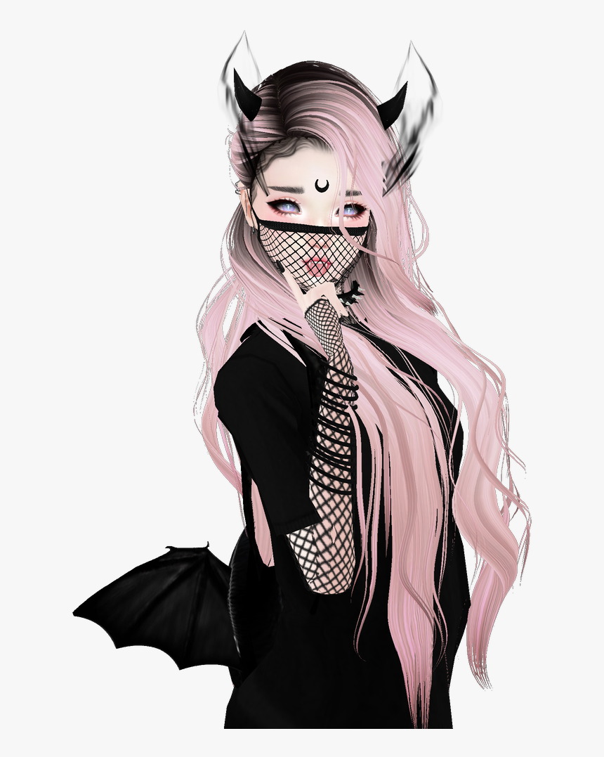 #animegirl #renders #sticker #like4like #follow4follow - Aesthetic Goth Anime Girl, HD Png Download, Free Download
