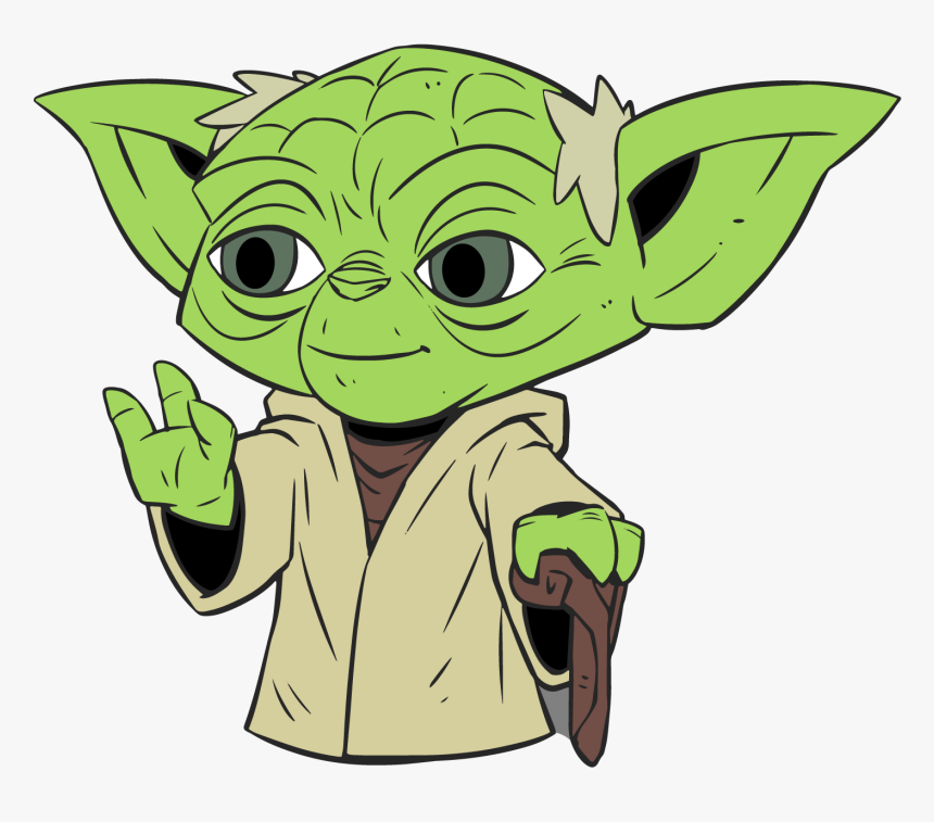 Transparent Star Wars Background Png Star Wars Yoda Cartoon Png