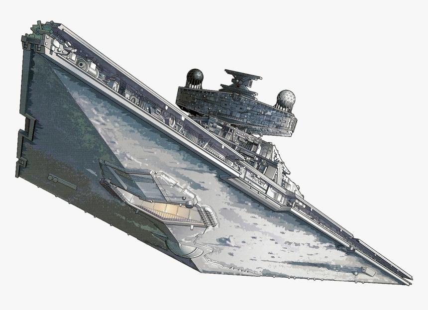 Clip Art Biggest Ship In Star Wars - Imperial Star Destroyer Png, Transparent Png, Free Download