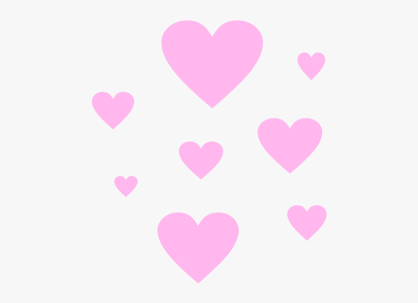 Clip Art Hearts Tumblr Edit Sticker - Heart Overlay Png Heart, Transparent Png, Free Download