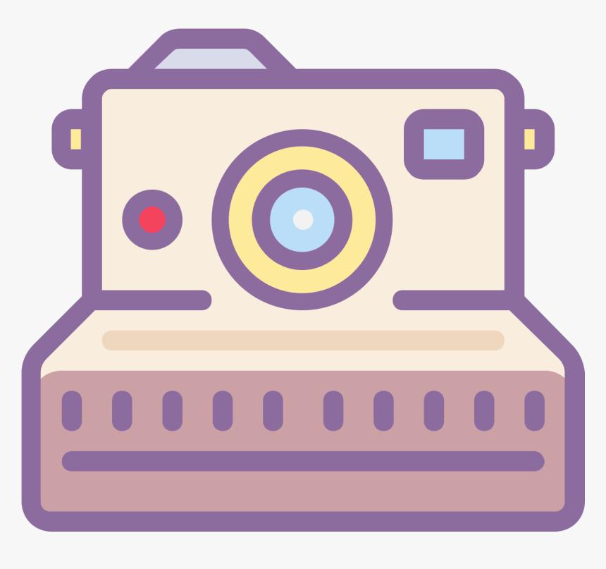 Camera Clipart Polaroid Camera - Polaroid Camera Icon Transparent Background, HD Png Download, Free Download