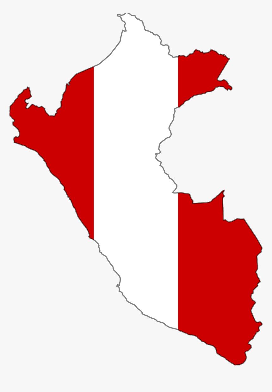 Peru Flag Map 1 Large Map - Peru Flag Map, HD Png Download, Free Download