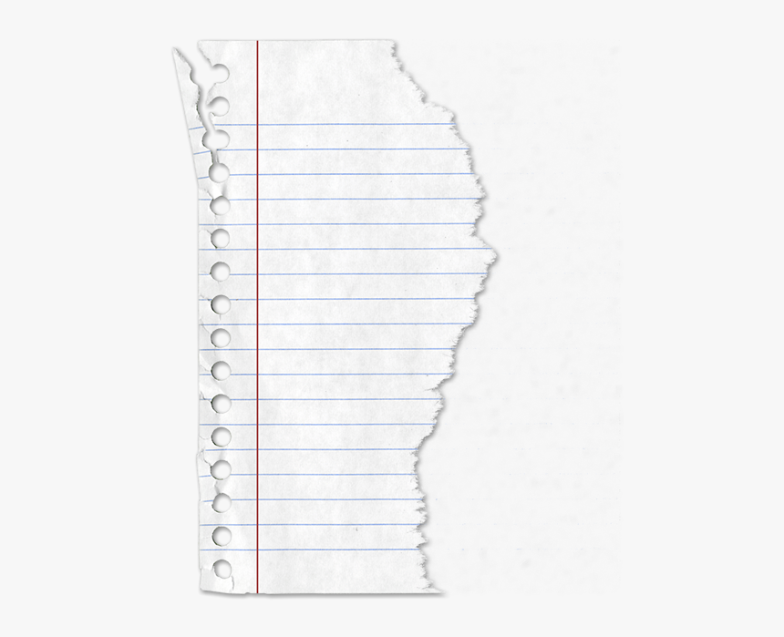 Torn Lined Paper Png- - Lined Torn Paper Png, Transparent Png, Free Download