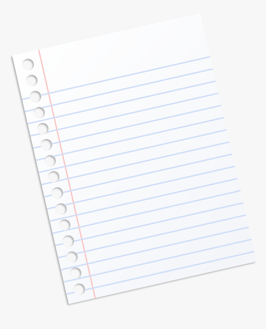 Paper Notebook Material Line - Notebook Paper Transparent Background, HD Png Download, Free Download