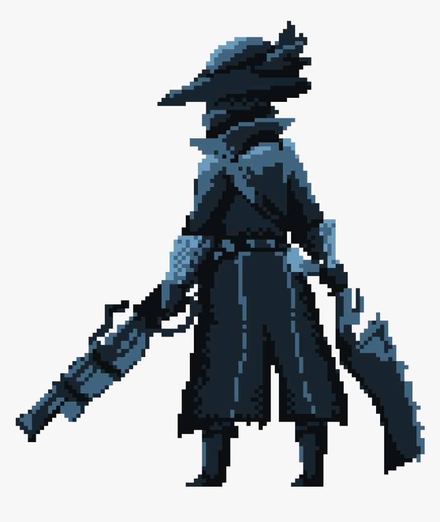 Transparent Bloodborne Hunter Png - Bloodborne Hunter Pixel Art, Png Download, Free Download