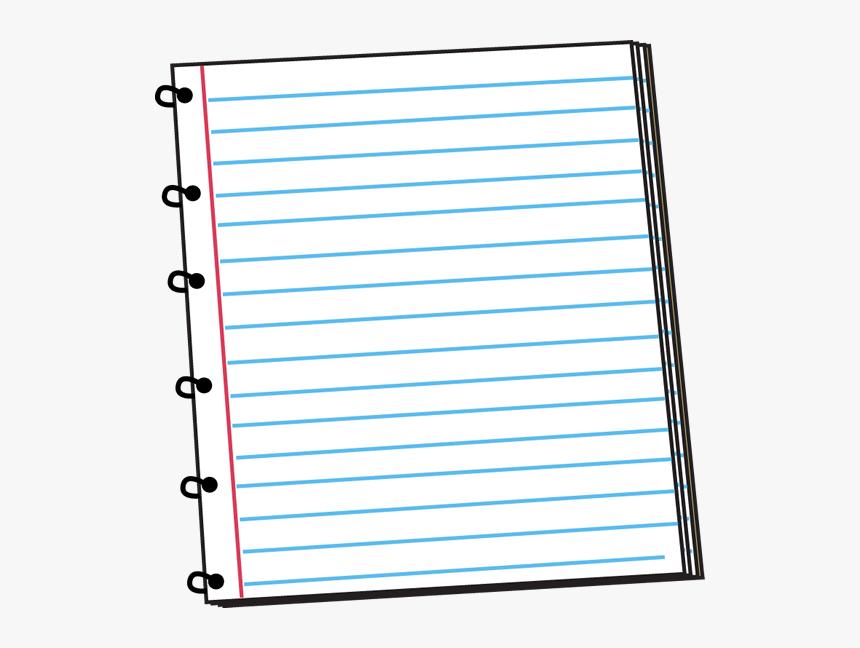 Spiral Notebook Clip Art Imag - Spiral Notebook Lined Paper, HD Png Download, Free Download