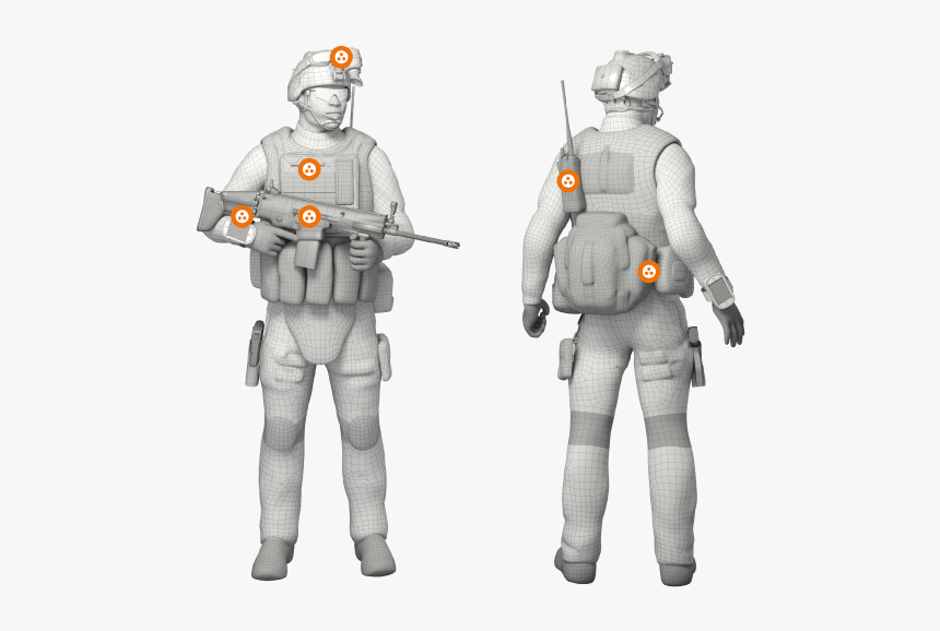 Cannon Soldier-worn Applications - Soldier, HD Png Download, Free Download