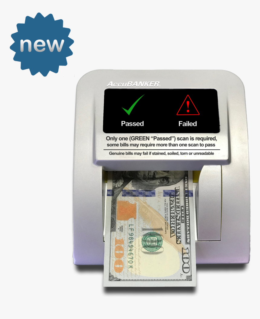D470 Quadscan 4 Way Counterfeit Detector Front - New 100 Dollar Bill, HD Png Download, Free Download