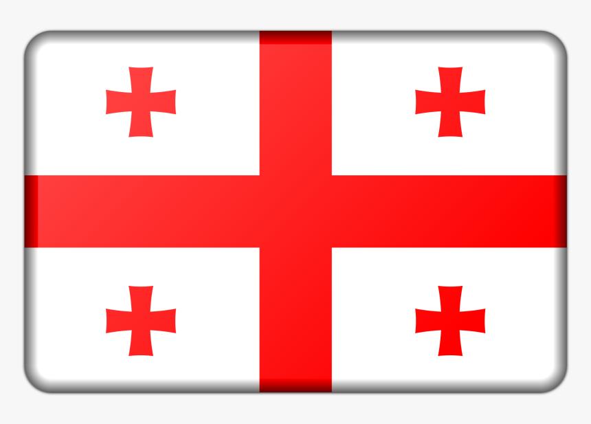 Georgia Flag Clip Arts - Georgian Flag Black And White, HD Png Download, Free Download